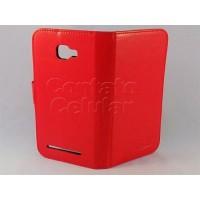 Capa Blu Dash D410 Carteira Em Silicone / Couro